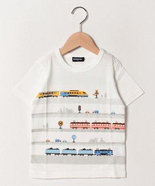 電車プリントTシャツ