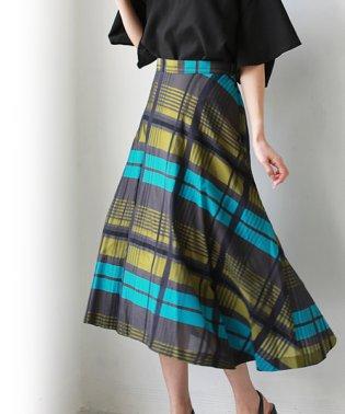 マルチチェックアシメスカート