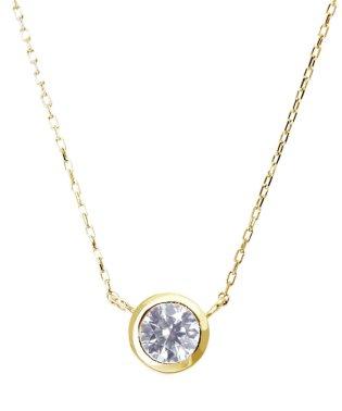 K18YG 天然ダイヤモンド 0.3ct フクリン ネックレス 【鑑別書付】