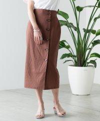 WEGO/リネンブレンドボタンナロースカート