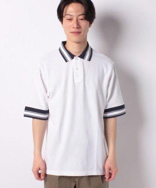 オーバーサイズラインポロシャツ