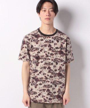 総柄ロゴ刺繍半袖Tシャツ・カットソー