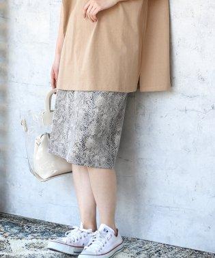◆大注目トレンドアイテム◆ストレッチパイソンタイトスカート