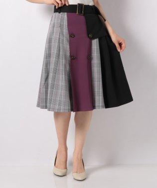 配色トレンチスカート