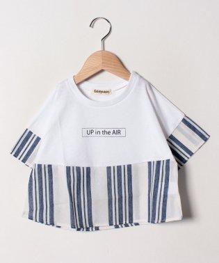 ロゴプリント切替Tシャツ