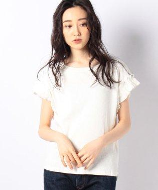 テレコ裾フリルカジュアルT