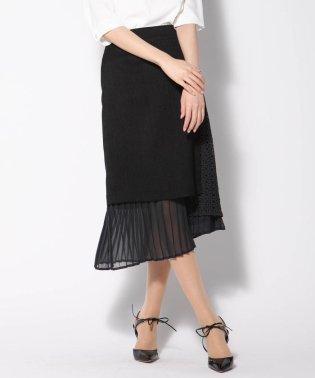 リネンライク異素材スカート