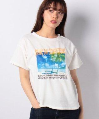 NK天竺ビーチフォトTシャツ