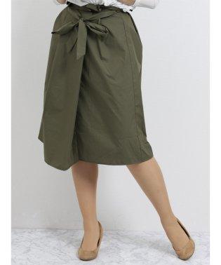 ハイウエストリボン付フレアースカート