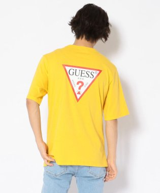 GUESS/ゲス/バックトライアングルロゴプリントルーズTシャツ