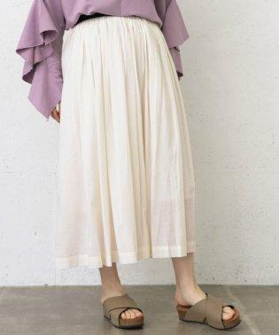 【WAREHOUSE】ギャザーロングゴムスカート