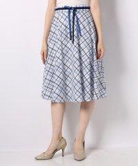 綿ブロードチェックプリントスカート