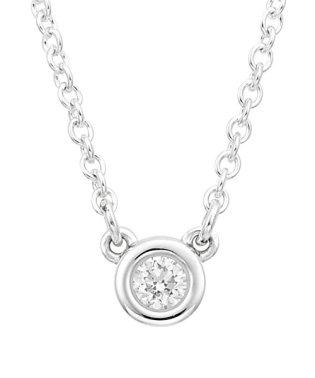 【Tiffany】SS ダイヤモンド バイ ザ ヤード ペンダント 0.03ct 41cm