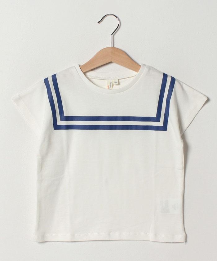 セーラーカラープリントTシャツ