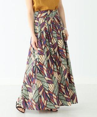 Demi-Luxe BEAMS / プリント コットン ロングスカート