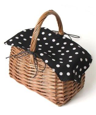 かぶせ布付きシンプルかごバッグ