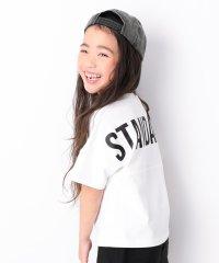 キッズ 子供服 バックロゴ半袖Tシャツ 男の子 女の子
