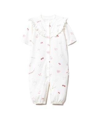 【BABY】【新生児】ガールズモチーフ2wayオール
