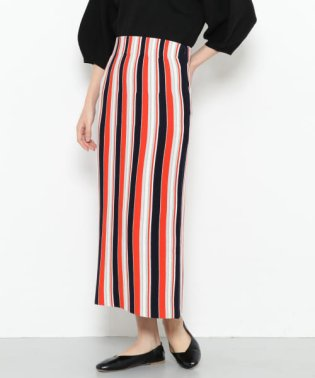 マルチストライプタイトスカート