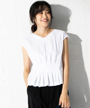 Soft Twill Jersey ギャザー カットソー