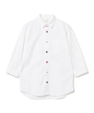 BEAMS / トリコロール パラシュートボタン 7分袖 シャツ