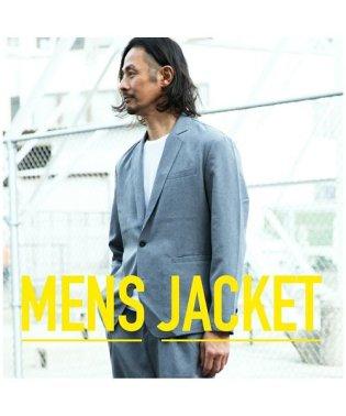 【セットアップ対応商品】ジャケット テーラードジャケット エステルトロ ボタン ポケット シンプル カジュアル メンズ M L LL