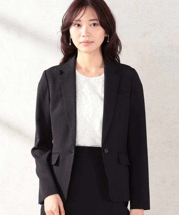 【セットアップ対応商品】ストレッチソフトドライ素材テーラードジャケット