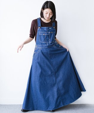 Wrangler ロング丈フレアーサロペットスカート