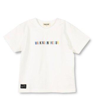 マルチカラー刺繍半袖Tシャツ