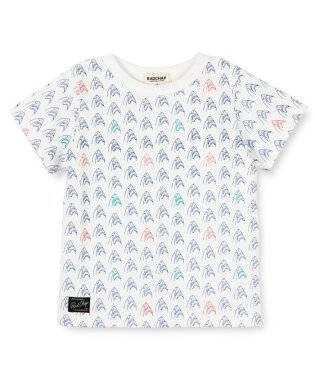 シャーク柄半袖Tシャツ