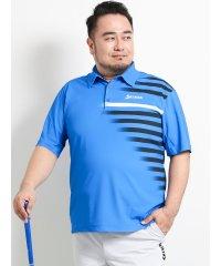 【大きいサイズ】スリクソン バイ デサント/SRIXON by DESCENTE グラフィックボーダープリント半袖ポロシャツ