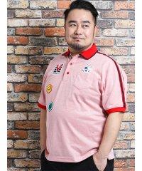 【大きいサイズ】バジエ/VAGIIE ワッペン付半袖ポロシャツ