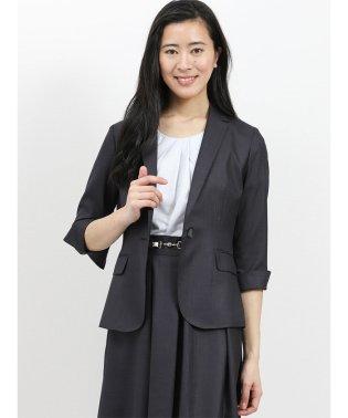 ホトフレッシュ/HOTOFRESH セットアップ1釦7分袖ジャケット 紺