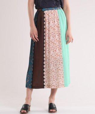 《Luftrobe》パッチワークプリーツスカート