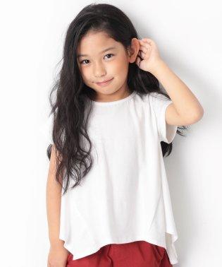 ハンカチヘム半袖Tシャツ 女の子