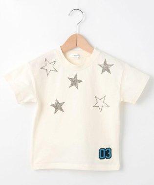 【抗菌防臭】【100cm~150cm】星スタンプTシャツ