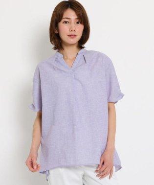 【洗える】スラブ Aラインシャツ