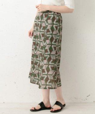 アフリカンプリントスリットロングスカート
