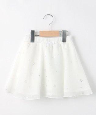 【150cmまで】星プリントシフォンフレアスカート