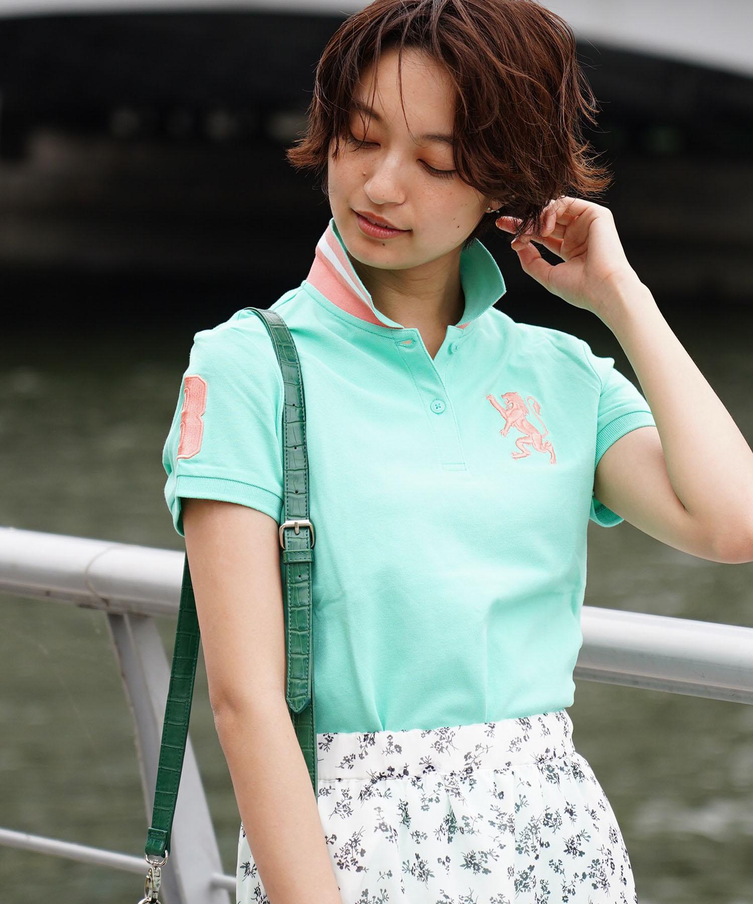 [GIORDANO]3Dライオン刺繍ポロシャツ