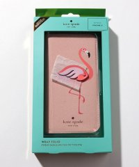 【KATE SPADE】IPHONEケース X/XS対応/FLAMINGO APPLIQUE FOLIO【PINK MULTI】
