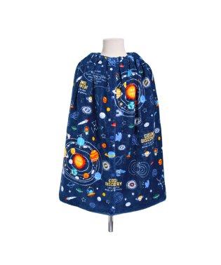 ラップタオル プールタオル 巻き 太陽系惑星とコスモプラネタリウム(ネイビー)