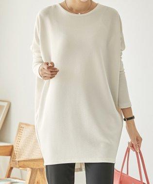 JOAMOM(ジョアマム)バックボタンロングTシャツ-