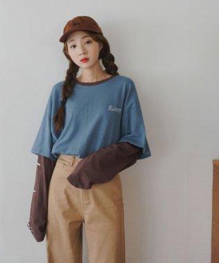 SONYUNARA(ソニョナラ)カラーブロックレイヤードTシャツ