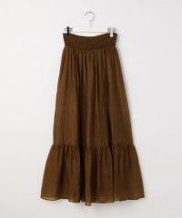 オーガンジーシャーリングスカート