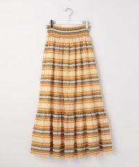 ジャガードボーダーマキシ丈スカート