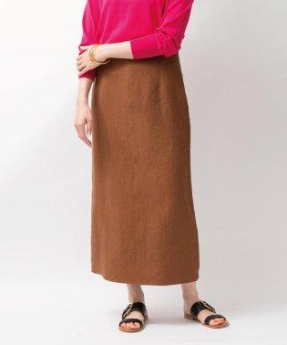 リネンバックスリットロングスカート