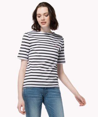 ロゴストライプTシャツ