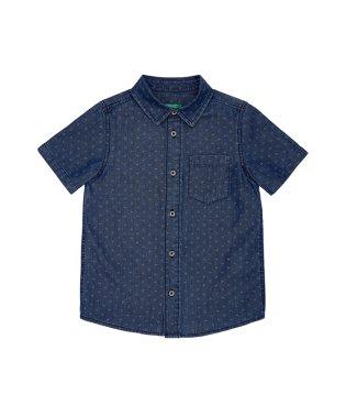 デニム半袖シャツ