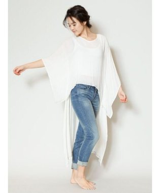 【Kahiko】刺繍入りハイローヘムワンピース 4ID-9120
